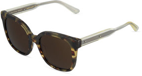 Bottega Veneta Square Plastic Sunglasses, Black