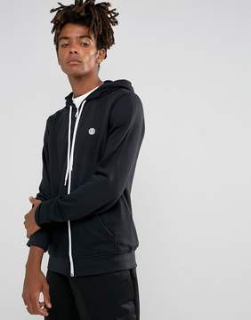 Element Cornell Logo Zip Up Hoodie in Black