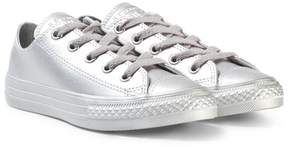 Converse Silver Kids Chuck Taylor All Star Low Tops