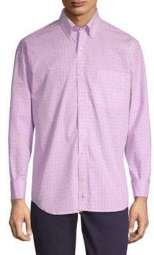 Tailorbyrd Edel Long-Sleeve Cotton Button-Down Shirt
