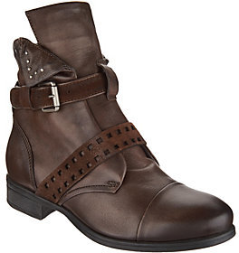 Miz Mooz As Is Leather Ankle Boots w/Side Zip- Storm