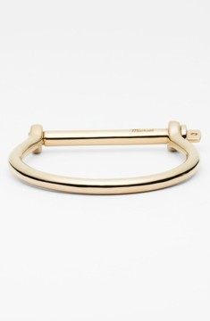 Miansai Men's Gold Plated Screw Cuff Bracelet