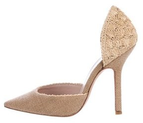 Ermanno Scervino Straw d'Orsay Pumps w/ Tags