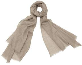 Aspinal of London | Lightweight Cashmere Scarf In Tawny Brown | Brown tawny cashmere