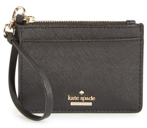 Kate Spade Women's Cameron Street - Mellody Leather Card Case - Black - BLACK - STYLE