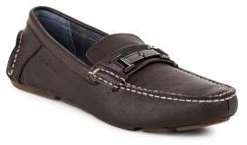 Calvin Klein Morrie Moc-Toe Leather Loafers