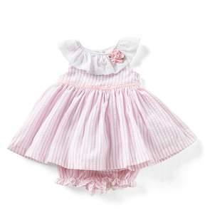 Laura Ashley London Baby Girls Newborn-24 Months Striped Seersucker A-Line Dress