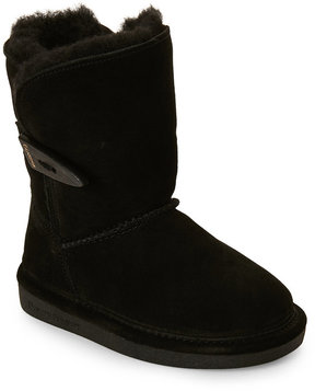 BearPaw Toddler Girls) Black Victorian Toggle Boots