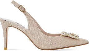 Dune Daphnie jewelled slingback courts