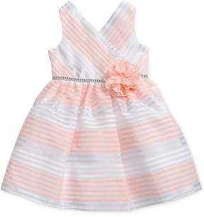 Sweet Heart Rose Striped Dress, Little Girls