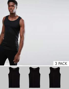 French Connection 3 Pack Lounge Tank