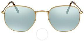 Ray-Ban Hexagonal Silver Flash Men's Sunglasses RB3548N 001/30
