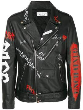 Faith Connexion printed punk jacket