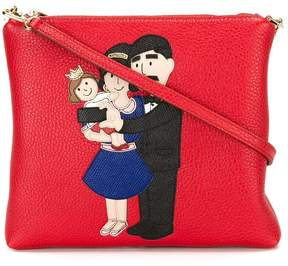 Dolce & Gabbana Family patch crossbody bag - RED - STYLE