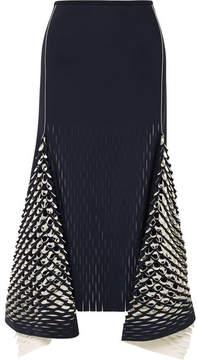 Dion Lee Asymmetric Cutout Neoprene Midi Skirt - Midnight blue