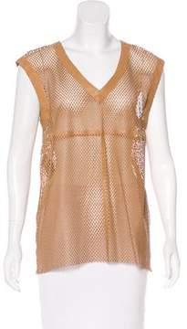 Drome Laser Cut Leather Top w/ Tags