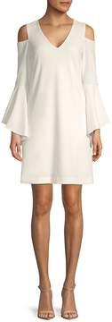 Donna Ricco Women's Cold-Shoulder Dress