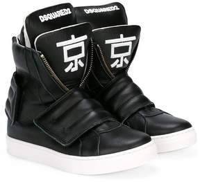 DSQUARED2 hi-top logo sneakers