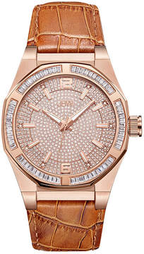 JBW Diamond Mens Brown Strap Watch-J6350d