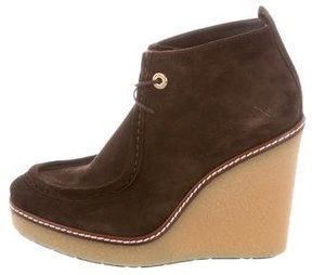 Moncler Suede Wedge Boots