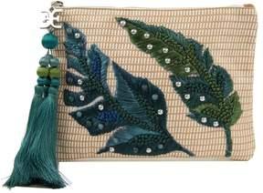 Sam Edelman Sheila Raffia Embroidered Clutch