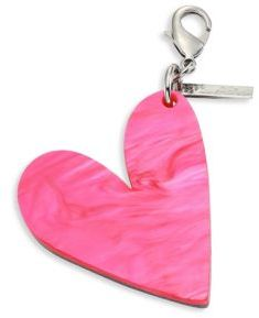 Edie Parker Heart-Shaped Keychain