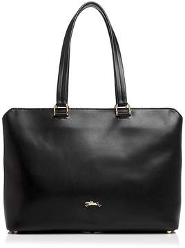 Longchamp Honoré Leather Tote - BLACK/GOLD - STYLE