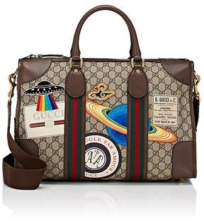 Gucci Men's GG Supreme Appliquéd Duffel Bag