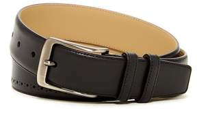 Mezlan Broguing Trim Calf Leather Belt
