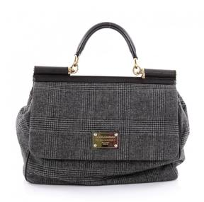 Dolce & Gabbana Grey Leather Handbag - GREY - STYLE