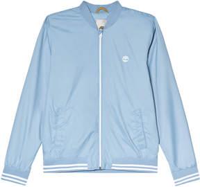 Timberland Kids Blue Logo Bomber Jacket