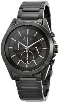 Armani Exchange Black Chronograph Dial Black Men's Watch