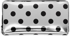 Comme des Garcons Wallets Silver and Black Polka Dot Continental Zip Wallet