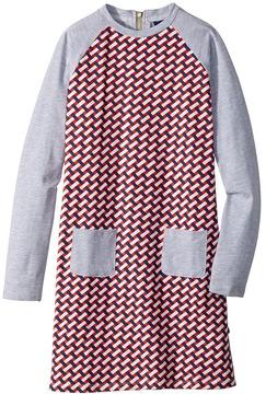Toobydoo Jersey Knit Shift Geo Dress Girl's Dress