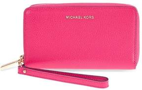 Michael Kors Mercer Large Leather Smartphone Wristlet - Ultra Pink - 32F6GM9E3L-564 - ONE COLOR - STYLE