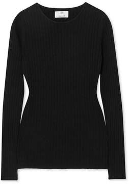 Allude Cashmere Ribbed-knit Sweater - Black