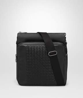 Bottega Veneta Nero Intrecciato Nappa Messenger Bag