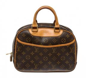 Louis Vuitton Trouville leather satchel - BROWN - STYLE