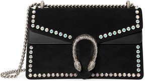 Dionysus suede shoulder bag with crystals