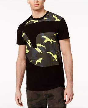 G Star Men's Froatz Oversized Neon Camouflage Logo-Print T-Shirt