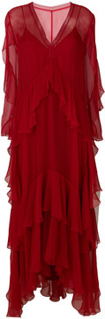 Alberta Ferretti tier maxi dress