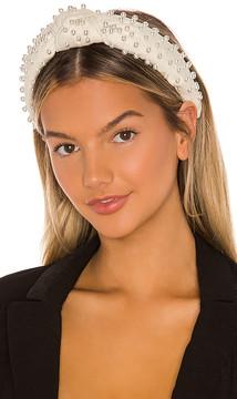 Lele Sadoughi Woven Pearl Headband