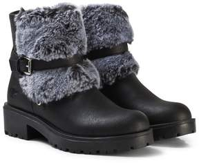 Lelli Kelly Kids Black Sonya Faux Fur Ankle Boots