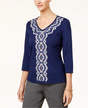 Alfred Dunner Gypsy Moon Embellished Top