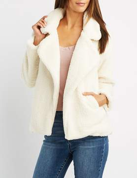 Charlotte Russe Faux Fur Notched Lapel Jacket