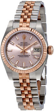 Rolex Lady Datejust 26 Pink Dial Stainless Steel and 18K Everose Gold Jubilee Bracelet Automatic Watch