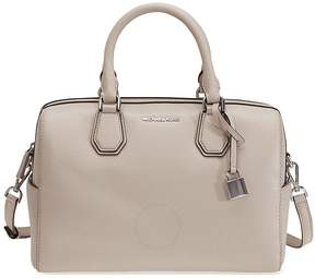 Michael Kors Mercer Pebbled Leather Duffle Bag - Cement - ONE COLOR - STYLE
