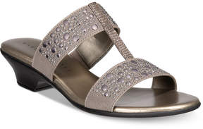 Karen Scott Eddina Embellished Slide Sandals, Created for Macy's Women's Shoes