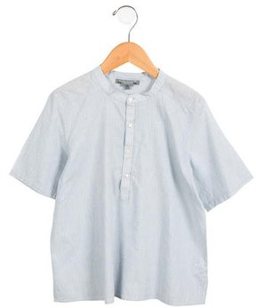 Bonpoint Boys' Striped Crew Neck Shirt