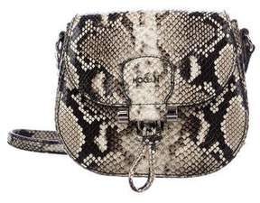 Hogan Leather Embossed Crossbody Bag
